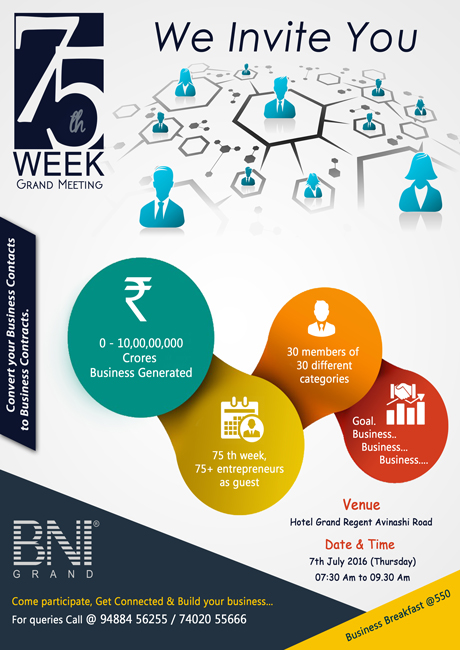 75th Week Grand Meeting of BNI