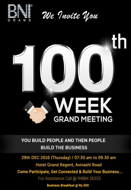 BNI 100th Week Grand Meeting