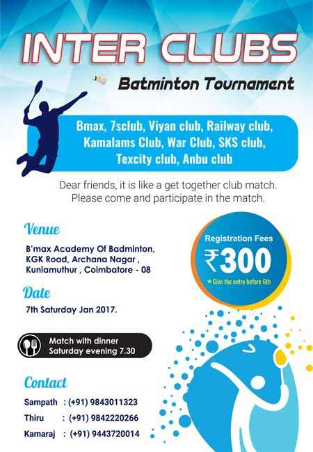 INTER CLUBS - Badminton Tournament
