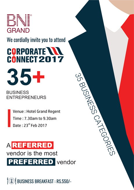 BNI GRAND - Corporate Connect 2017
