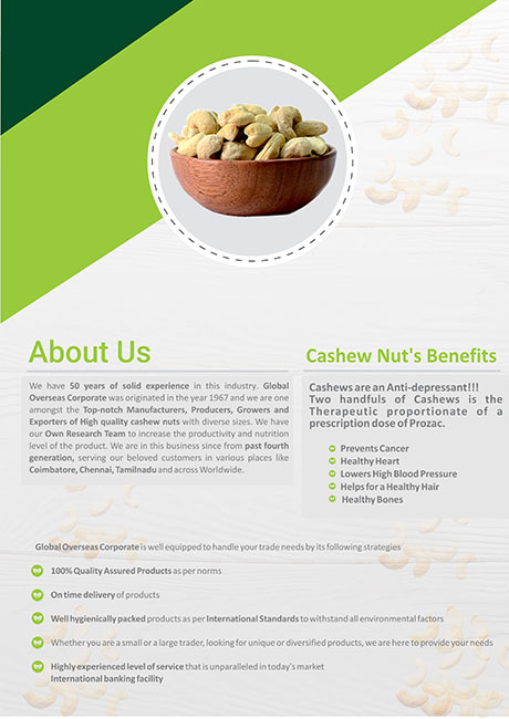 Global Overseas Corporate (Cashew Nut)