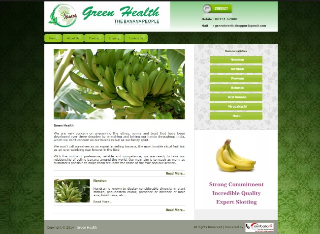 Green Health Banana