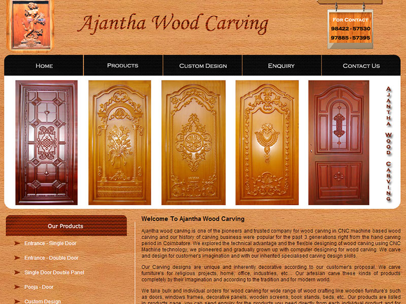 Ajantha Wood Carving