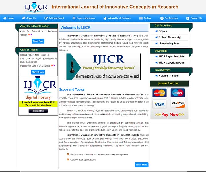 International Journal of Innovative Concepts in Research
